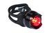 RFR Diamond Fietsverlichting red LED zwart